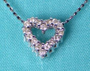 結婚記念日プレゼントダイヤモンドネックレス