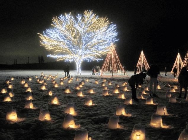 長岡イルミネーション2016丘陵公園クリスマス