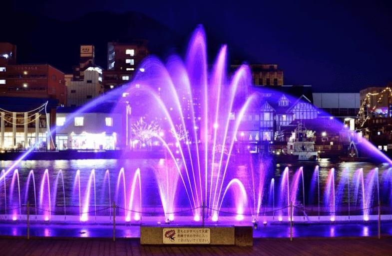 門司港イルミネーション2016噴水イルミネーション
