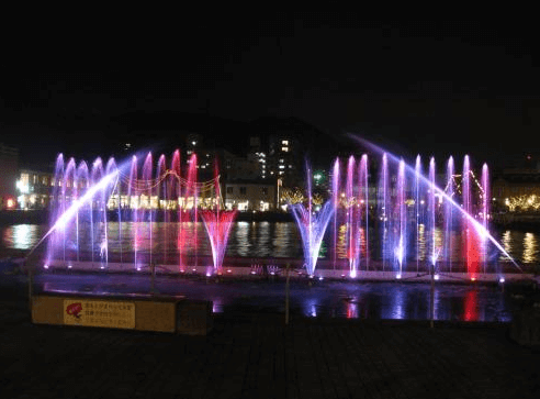 門司港イルミネーション2016噴水イルミネーション3