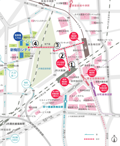 ドイツクリスマスマーケット大阪2016アクセス地図