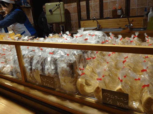 ドイツクリスマスマーケット大阪2016食べ物バウムクーヘン