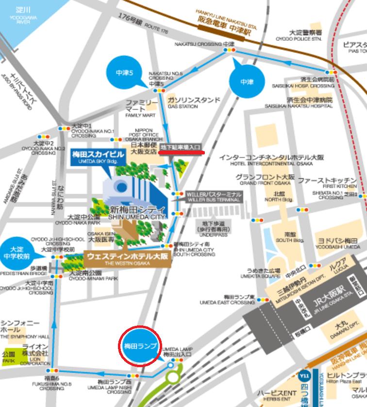 ドイツクリスマスマーケット大阪2016駐車場マップ
