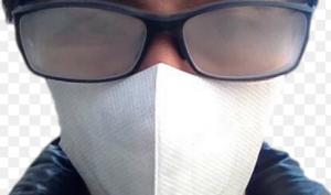 メガネマスク曇る