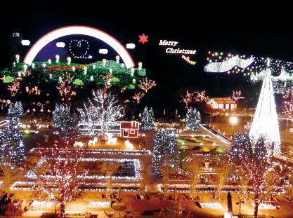 全国クリスマスイルミネーションランキングあしかがフラワーパーク