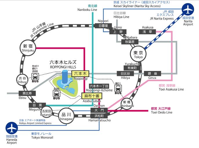 六本木ヒルズけやき坂イルミネーション2016アクセス