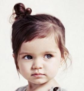 子供髪型アレンジミニおだんご