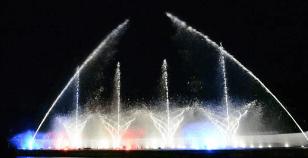 御殿場時之栖イルミネーション2016噴水レーザーショー