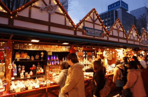 札幌ホワイトイルミネーション2016大通会場ミュンヘンクリスマス市