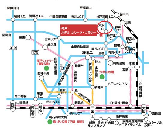 神戸イルミナージュ2016アクセス地図2