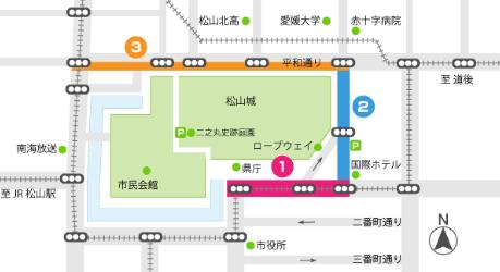 愛媛マラソンコース2017年交通規制地図