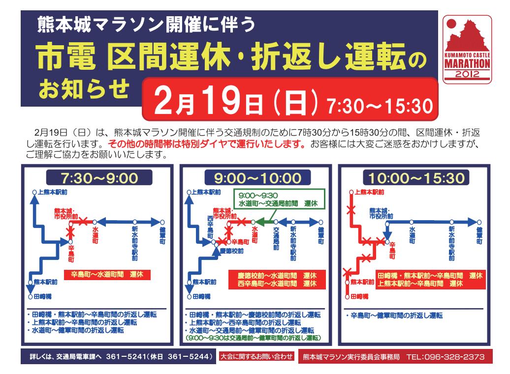 熊本城マラソン2017交通規制市電4