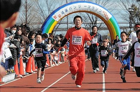 関東埼玉鴻巣パンジーマラソン大会親子