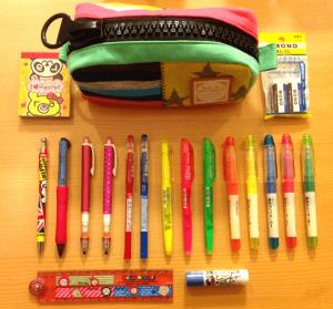 ペン種類多い