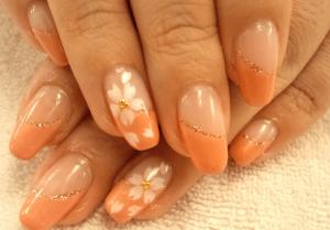 桜の花春ネイル