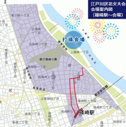 江戸川花火大会場所