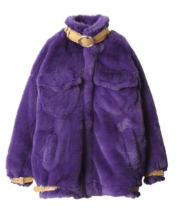 紫のファージャケット
