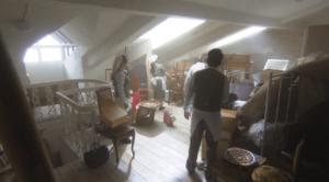 屋根裏の掃除