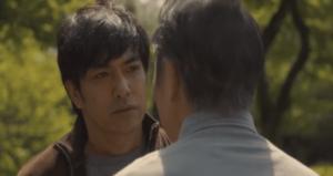 田中の父親と話す大山