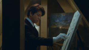 絵を描く西園寺
