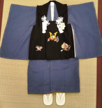 3歳男の子の被布と着物